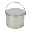 Stainless bucket with plain lid